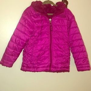 North Face pink toddler girl jacket size 3
